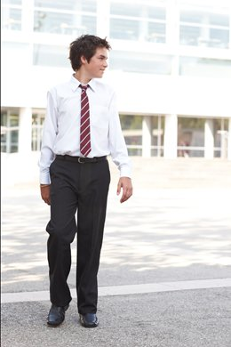 Boy's Flat Front Trousers for Sixth Form